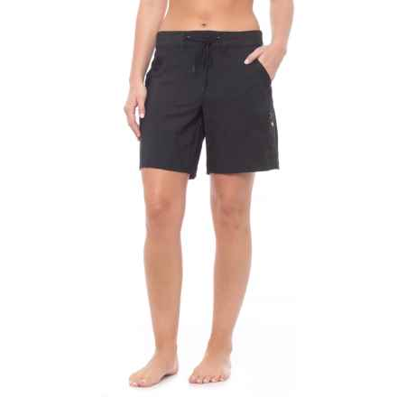JAG Rolled Walking Shorts (For Women) in Black - Closeouts