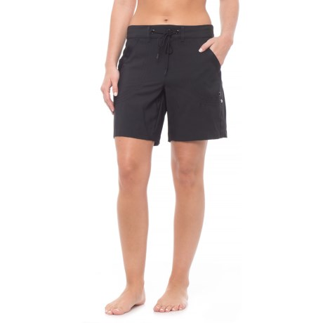 JAG Rolled Walking Shorts (For Women) in Black