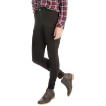 JAG Rowan Slim Pants - Ponte Knit (For Women) in Black - Overstock
