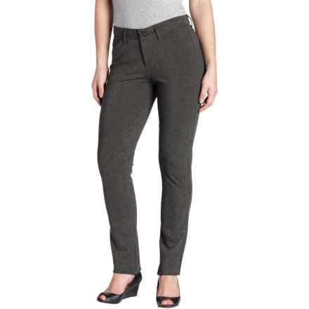JAG Rowan Slim Pants - Ponte Knit (For Women) in Charcoal Heather - Overstock