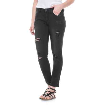 JAG Sally Distressed Skinny Ankle Jeans - Low Rise (For Women) in Black - Closeouts