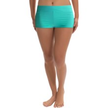JAG Solid Swimsuit Bottoms - Boy Short (For Women) in Island Green - Closeouts