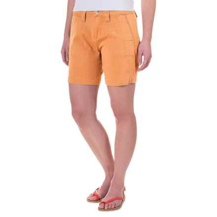 JAG Somerset Stretch Twill Utility Shorts (For Women) in Citrus Orange - Closeouts