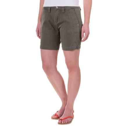 JAG Somerset Stretch Twill Utility Shorts (For Women) in Flint - Closeouts