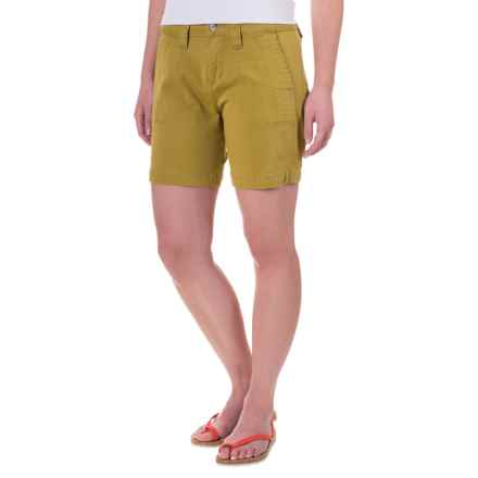 JAG Somerset Stretch Twill Utility Shorts (For Women) in Golden Olive - Closeouts