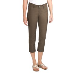 JAG Sussex Crop Pants - Fineline Twill, Mid Rise, Slim Fit (For Women) in Brown Sugar