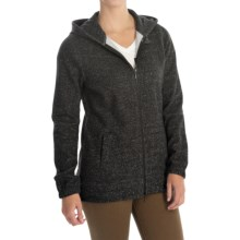 JAG Varsity Cotton Zip Hoodie (For Women) in Charcaol Tweed - Closeouts