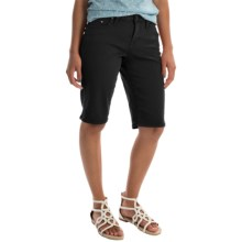 JAG Willa Twill Bermuda Shorts (For Women) in Black - Overstock