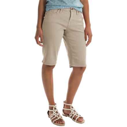 JAG Willa Twill Bermuda Shorts (For Women) in Stone - Overstock