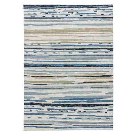 Jaipur Sketchy Lines Indoor-Outdoor Area Rug - 5x7' in Silver Green/Ensign Blue - Closeouts