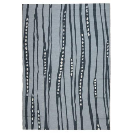 Jaipur Tendril Swirl Pattern Indoor-Outdoor Area Rug - 5x7' in Quarry/Dark Slate