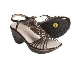 Jambu Acapulco T-Strap Woven Sandals - Leather (For Women) in Brown