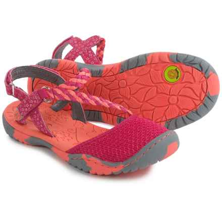 Jambu Azalea 2 Sport Sandals (For Little and Big Girls) in Fuchsia/Coral - Closeouts