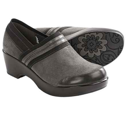 Jambu Bali Clogs - Closed Back, Leather (For Women) in Charcoal - Closeouts