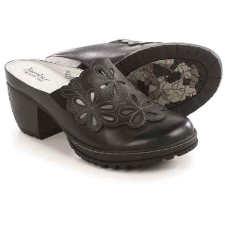 Jambu Balsa Clogs - Leather (For Women) in Black - Closeouts