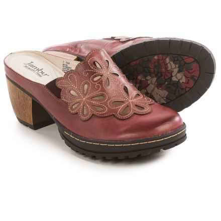 Jambu Balsa Clogs - Leather (For Women) in Deep Red - Closeouts