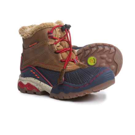 Jambu Baltoro 2 Snow Boots - Waterproof, Leather (For Little and Big Boys) in Brown/Navy - Closeouts