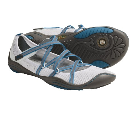 Jambu Barefoot Shoes - Vegan, Minimalist (For Women) in White/Cobalt
