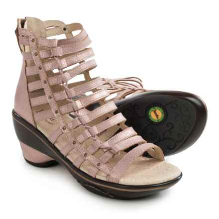 Jambu Brookline Gladiator Sandals - Leather (For Women) in Champagne - Closeouts