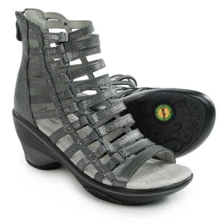 Jambu Brookline Gladiator Sandals - Leather (For Women) in Gunmetal - Closeouts
