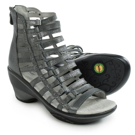 Jambu Brookline Gladiator Sandals - Leather (For Women) in Gunmetal