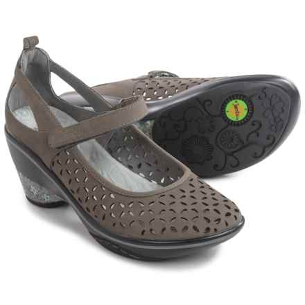 Jambu Calypso Mary Jane Wedge Shoes - Nubuck (For Women) in Dark Grey - Closeouts