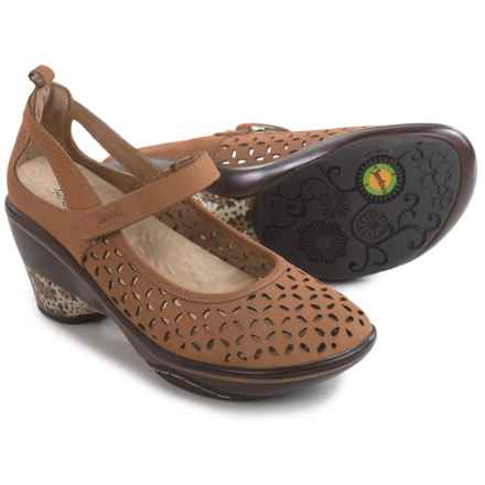 Jambu Calypso Mary Jane Wedge Shoes - Nubuck (For Women) in Taupe - Closeouts