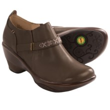 Jambu Cambridge Wedge Clogs - Leather (For Women) in Dark Taupe - Closeouts
