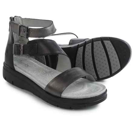 Jambu Cape May Sandals - Leather (For Women) in Gun Metal Black - Closeouts