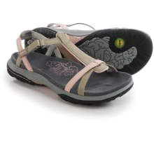 Jambu Charlotte Leather Sandals (For Women) in Grey/Pink - Closeouts