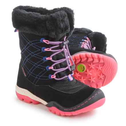 Jambu Collett 2 Snow Boots - Waterproof (For Little and Big Girls) in Black/Pink - Closeouts