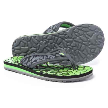 Jambu Crescent Flip-Flops (For Boys) in Charcoal/Green - Closeouts
