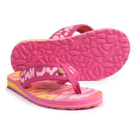 Jambu Crescent Flip-Flops (For Girls) in Hot Pink/Coral - Closeouts