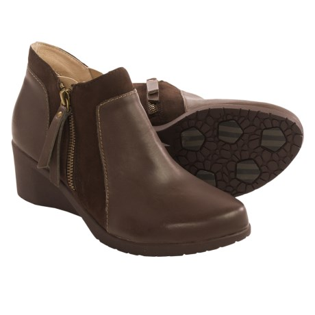 Jambu Cube Boots Leather, Wedge Heel (For Women)