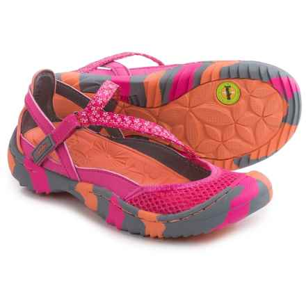 Jambu Dawn 2 Sandals (For Little and Big Girls) in Fuchsia/Coral - Closeouts