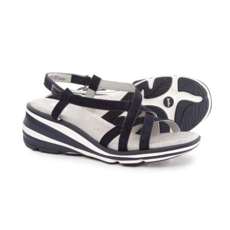 Jambu Ginger Wedge Sandals - Suede (For Women) in Navy