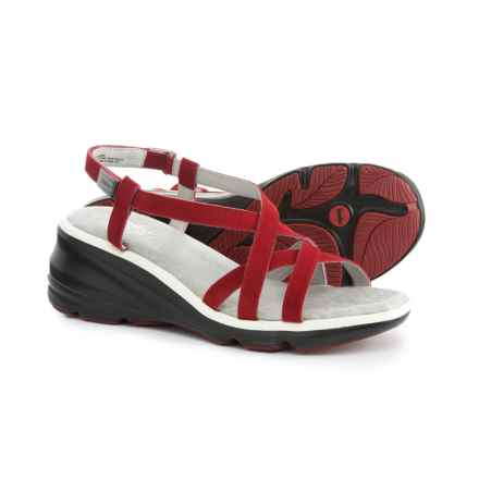 Jambu Ginger Wedge Sandals - Suede (For Women) in Red - Closeouts