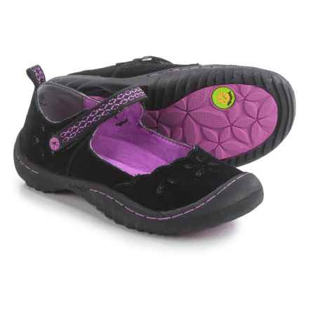 Jambu Greenwich 3 Mary Jane Shoes - Suede (For Little and Big Girls) in Black/Purple - Closeouts