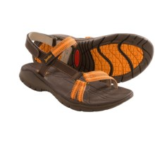Jambu Hudson Sport Sandals - Leather (For Women) in Brown/Orange - Closeouts