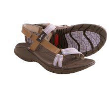 Jambu Hudson Sport Sandals - Leather (For Women) in Oatmeal/Lavender - Closeouts