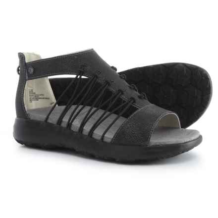 Jambu JBU Aruba Sandals - Vegan Leather (For Women) in Black - Closeouts