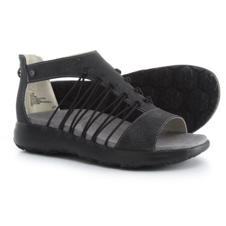 Jambu JBU Aruba Sandals - Vegan Leather (For Women) in Black
