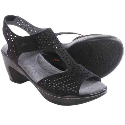 Jambu JBU Chloe Wedge Sandals - Vegan Leather (For Women) in Black - Closeouts