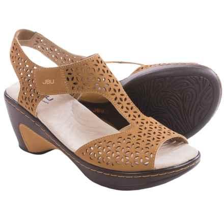 Jambu JBU Chloe Wedge Sandals - Vegan Leather (For Women) in Sand - Closeouts