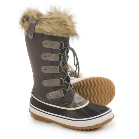 Jambu JBU Edith Pac Boots - Waterproof, Vegan Leather (For Women) in Dark Grey
