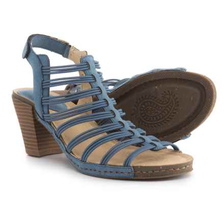 Jambu JBU Luna Sandals - Vegan Leather (For Women) in Denim - Closeouts