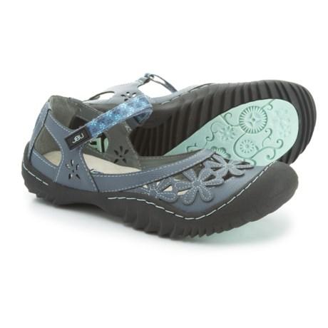 Jambu JBU Wildflower Mary Jane Shoes - Vegan Leather (For Women) in Denim