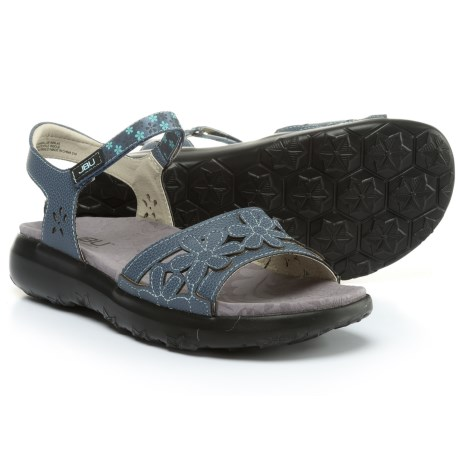 Jambu JBU Wildflower Sandals - Vegan Leather (For Women) in Denim