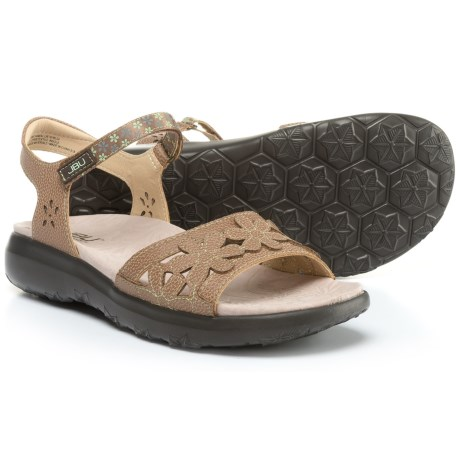 Jambu JBU Wildflower Sandals - Vegan Leather (For Women) in Expresso