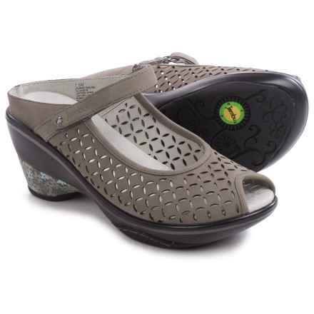 Jambu Journey Encore Wedge Shoes - Nubuck (For Women) in Dark Grey - Closeouts